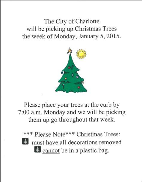 christmas tree pick up christmas tree pickup city of charlotte michigan