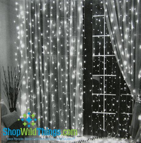led warm white light curtain 6' long with 144 lights