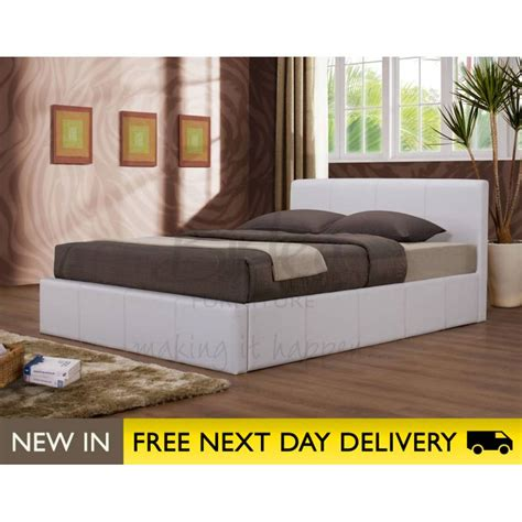 ottoman storage beds double ottoman white 4ft faux leather storage bed cheapest