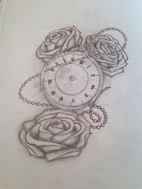 stopwatch tattoo designs roses and stopwatch designed for becca piercing