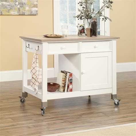 sauder kitchen furniture sauder mobile kitchen island softwhite home