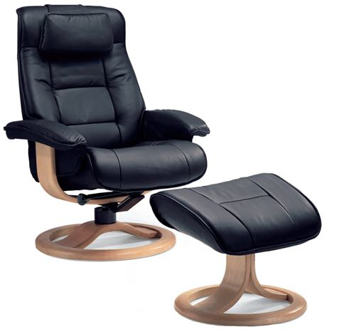 reclining chairs with ottoman fjords mustang ergonomic leather recliner chair ottoman