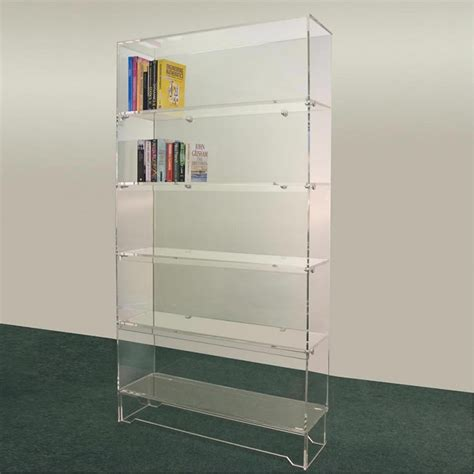 free standing acrylic shelves transparent lucite acrylic