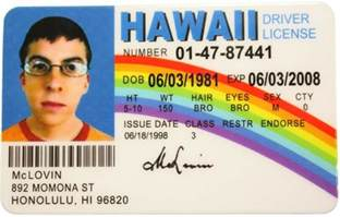Drivers License But Not Forgotten Groceries From The Beverage Aisle