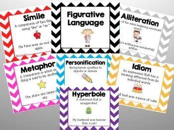 printable figurative language poster cute figurative language posters classroom ideas