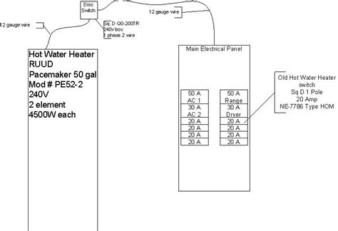 water heater 240v wiring diagram wiring diagram with