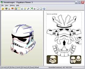 Papercraft Helmet Pdf - stormtrooper my version paperbotz