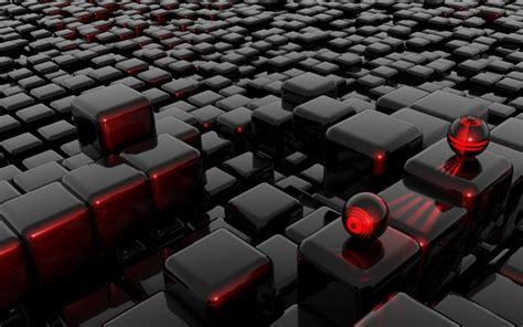 wallpaper black n red abstract black red futuristic balls cubes 3d wallpaper