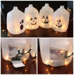 Easy Homemade Halloween Decorations For Kids Easy Halloween Craft Ideas Milk Jug Ghosts Isavea2z Com