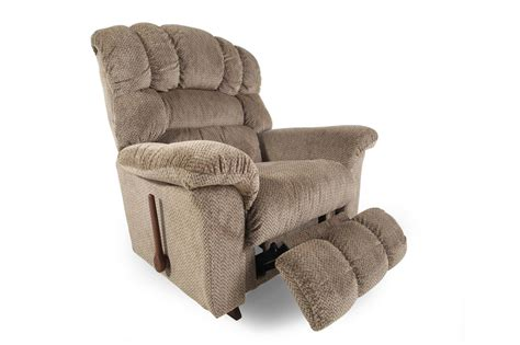 big man recliners lazy boy casual 46 quot rocker recliner in bamboo mathis brothers