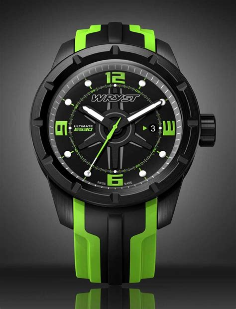black swiss sport wryst ultimate es30 with green details