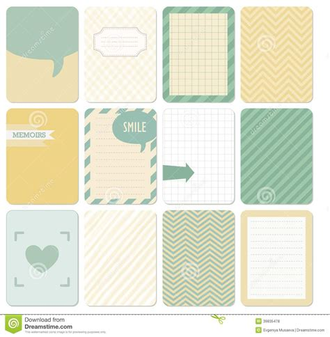 scrapbook journaling templates vector set of journaling card stock vector image 39835478