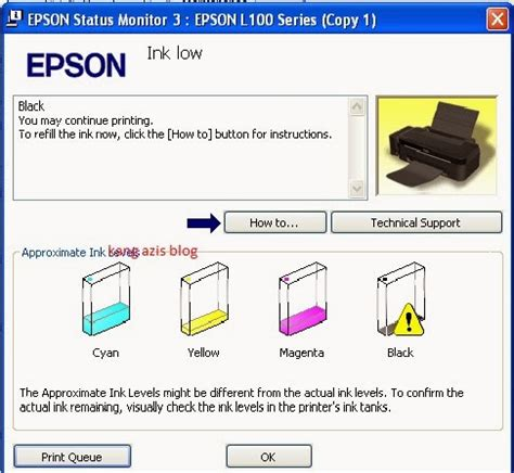 cara reset epson l200 ink level cara reset ink level epson l100 l200 tanpa sn id tinta