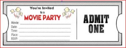 birthday ticket template amazing birthday invitations to inspire you