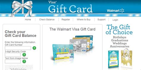 Walmart Visa Gift Card Balance - my giftcard box check balances and add funds