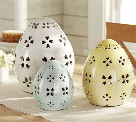 care ceramic egg pierced ceramic eggs pottery barn
