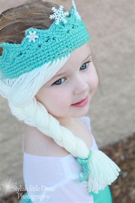free pattern elsa crochet hat elsa frozen disney movie tiara crown crochet hat on etsy
