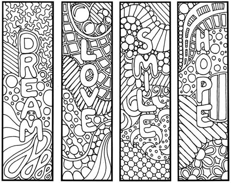 free printable bookmarks you can color 9 best images of adult coloring pages free printable