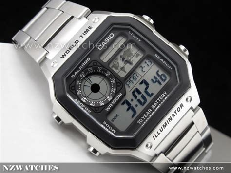 Casio Jam Tangan Ae 1200wh 1avdf buy casio 10yrs battery 5 alarms world time ae 1200whd 1av ae1200whd buy watches