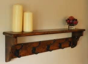 vintage coat rack shelf made from reclaimed wood