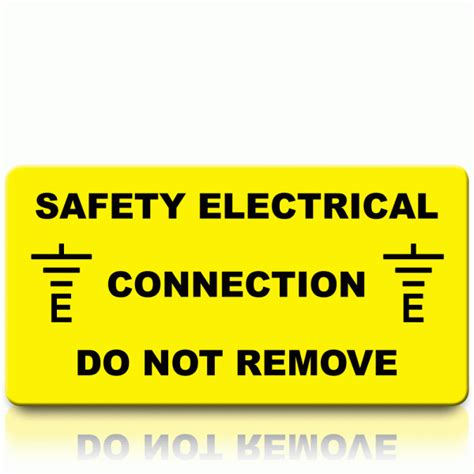 what electrical connection is made by the safety wire buy safety electrical connection labels connection stickers