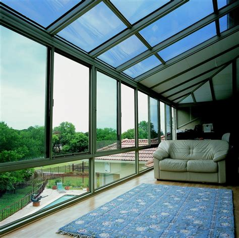 hybrid straight glass roof sunroom  patio enclosure