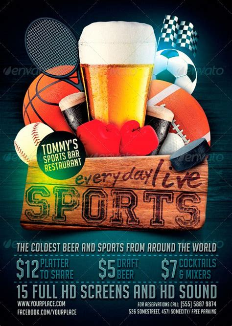 bar flyer templates free ffflyer flyer template sports bar flyer template