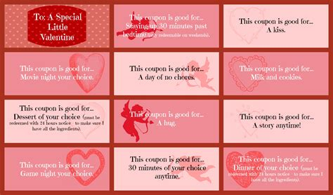 free printable valentine love coupons valentine s day coupon book printable for that special