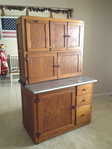 Antique Kitchen Cabinets Vintage Antique Oak Hoosier Kitchen Cabinet With Flour Sugar Containers The Doors