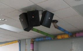 how to hang speakers on a drop ceiling