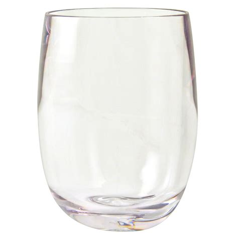 plastic barware strahl 408403 13 oz stemless wine glass clear poly
