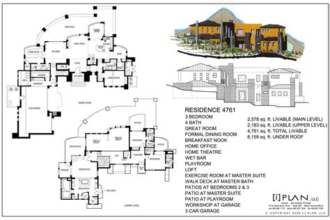 5000 square foot house plans floor plans to 5 000 sq ft