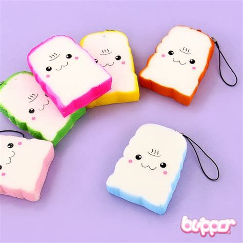 Squishy Toast by Colorful Toast Squishy Charm Blippo Kawaii Shop