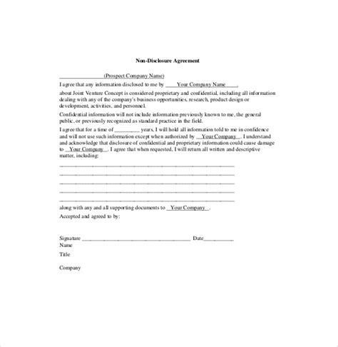 joint venture agreement template 13 free word pdf