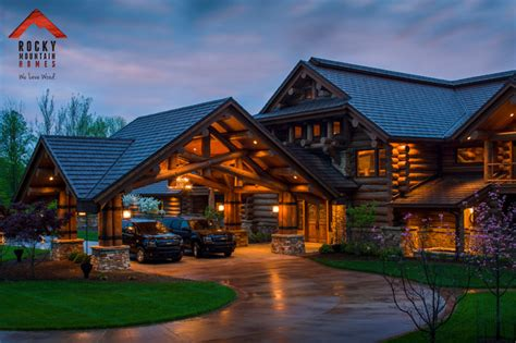 lodge style homes lodge style living rocky mountain homes rustic garage and shed other metro by rocky