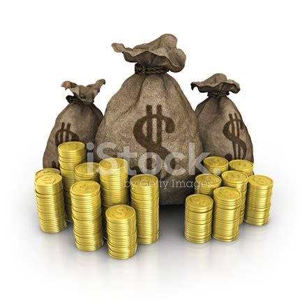 dollar bag with heap coins stock photos freeimages.com