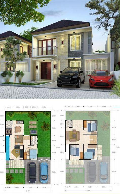 desain rumah walet 8x12 denah rumah minimalis 2 lantai 100 150 dilengkapi 4 kamar