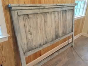 Pallet Wood Headboard Diy Pallet Wood Farmhouse Style Headboard 101 Pallets
