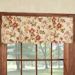 Kitchen Valances For Windows Farrell Light Gold Floral Layered Window Valance