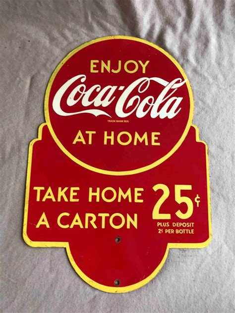 coca cola take one home soda pop vintage style metal tin coca cola collectibles antique price guide