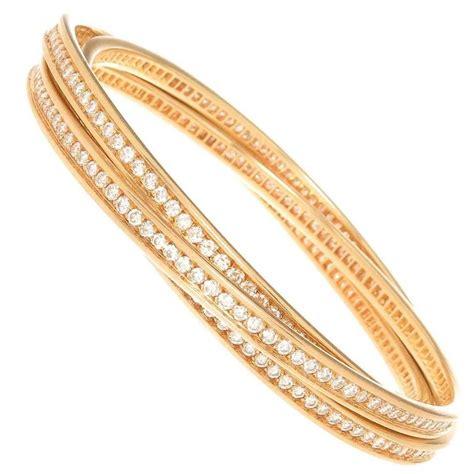 cartier 3 band bracelet at 1stdibs