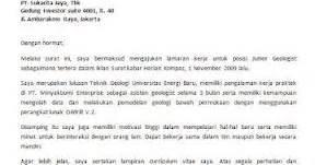 contoh surat lamaran kerja terbaru 2012 kata mutiara dan