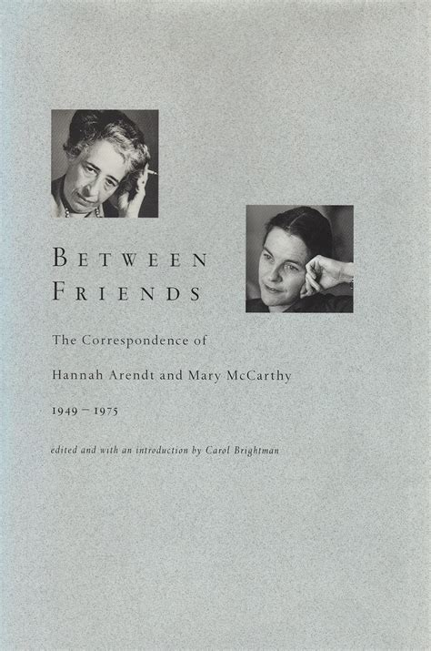 the correspondence of arendt and gershom scholem books reader s diary between friends the correspondence of