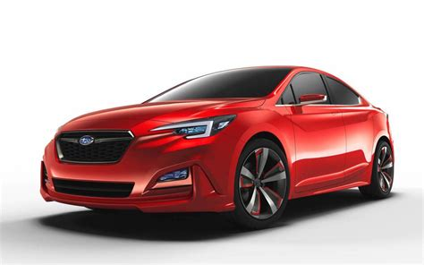 saabaru sedan subaru impreza sedan concept previews design