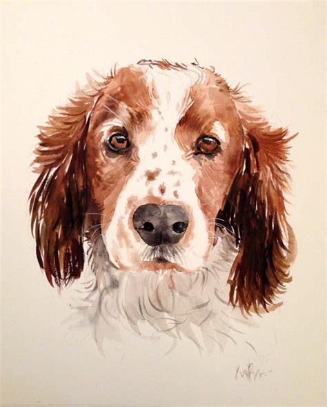 puppy portraits custom pet portrait original watercolor painting