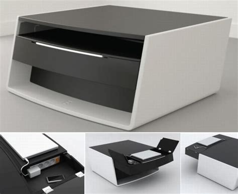 High Tech Coffee Table A Hi Tech Coffee Table For Your Gadgets The Luxury Hub