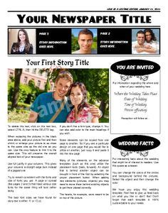 layout newspaper program 1000 images about wedding engagement newspaper