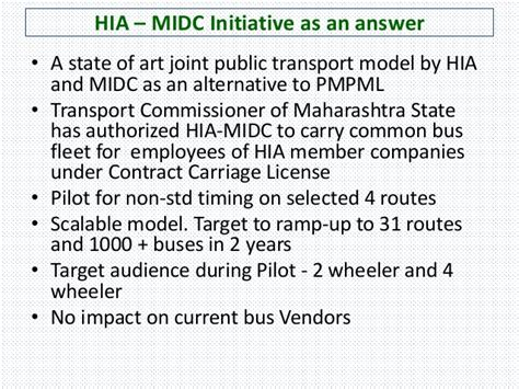 Umsl Professional Mba Cost by Hinjewadi Industries Association Midc Joint Transport