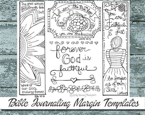 25 Best Images About Bible Journaling On Pinterest Coloring Sheets Gel Pens And Stress Reliever Free Bible Journaling Templates