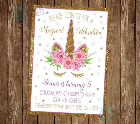 best 25 unicorn invitations ideas on pinterest unicorn